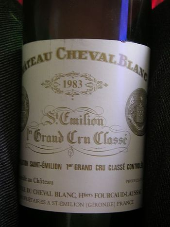 Label of the French wine Cheval blanc from the...