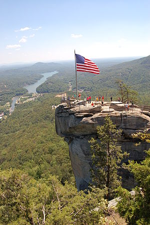 English: Chimney Rock State Park looking east ...