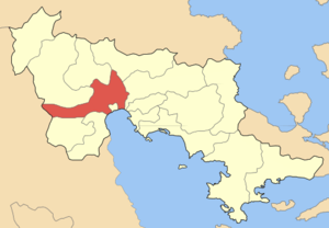 Locator map for Argous municipality (Δήμος Άργ...
