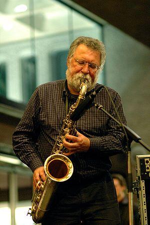 British saxophonist Evan Parker