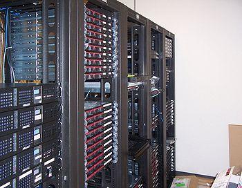 Multiple racks of servers