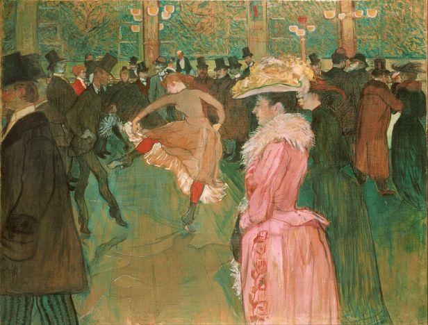 Henri de Toulouse-Lautrec, - At the Moulin Rouge- The Dance