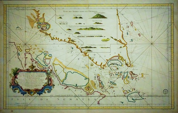 National Museum of Singapore - Joy of Museums - Jacques-Nicolas Bellin map of the Straits of Malacca