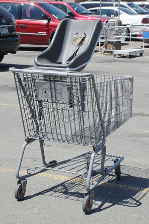 Shopping Cart with Baby Seat, picture taken at...