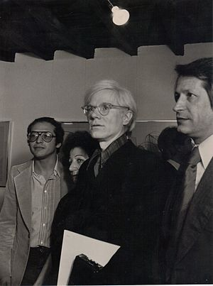 English: Andy Warhol a Roma