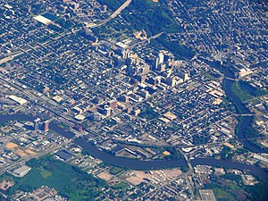 Wilmington, Delaware, seen from an airplane