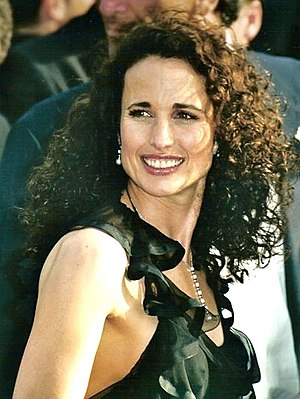 English: Andie MacDowell at the Cannes film fe...