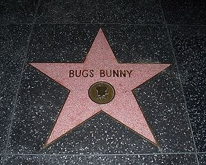Bugs Bunny's star on the Hollywood Walk of Fame.
