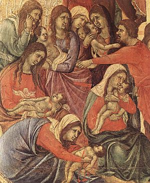 Duccio di Buoninsegna - Slaughter of the Innoc...