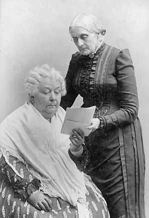 Elizabeth Cady Stanton and Susan B Anthony