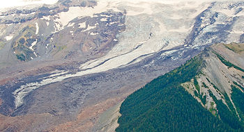 Emmons Glacier at Mt. Rainier in Washington, USA