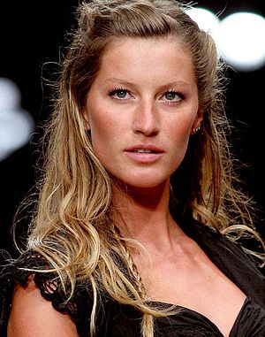 English: Brazilian top model Gisele Bündchen, ...