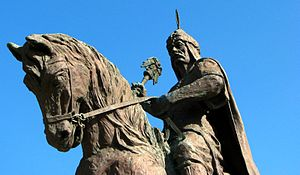 English: Statue of Kayqubad I in Alanya