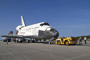 STS-133 Last towback of Space Shuttle Discovery