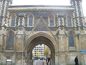English: The Inner Gatehouse, Reading Abbey, A...