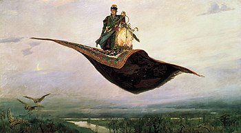 The Flying Carpet by Viktor Vasnetsov (1880). Oil, canvas.