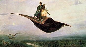 The Flying Carpet by Viktor Vasnetsov (1880). Oil, canvas.
