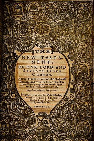 1631 KJV New Testament titlepage 2