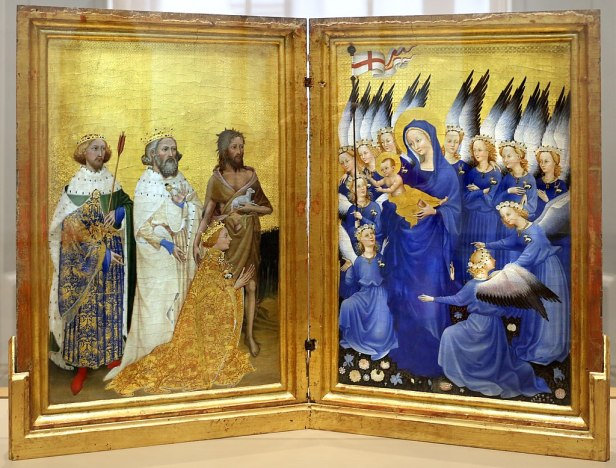 Anonimo inglese o francese, dittico wilton, 1395-99 ca. 01