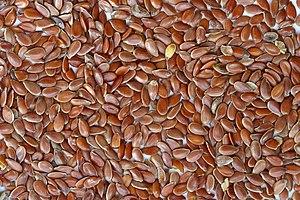 English: Brown Flax Seeds. Français : Graines ...