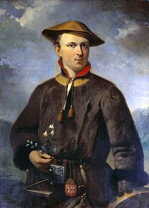 Carolus Linnaeus in Laponian costume; replica ...