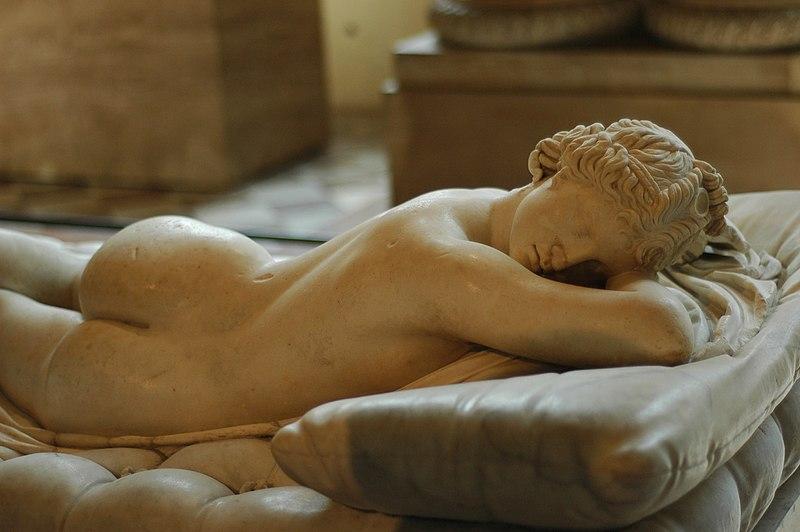 File:Hermaphroditus Louvre face.jpg
