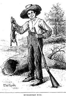 An early illustration for Huckleberry Finn by E.W. Kemble