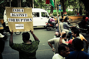 English: India Against Corruption - Protestors...
