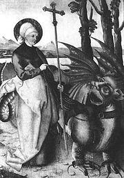 Representação do dragão como um ser demonáco nas culturas religiosas européias.