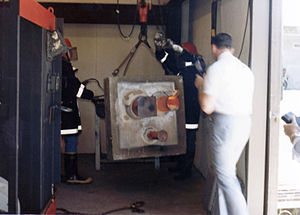 Private fire test furnace in Tulsa, Oklahoma, ...