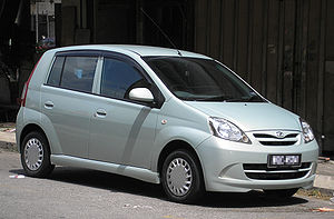 The front of a first generation Perodua Viva (...