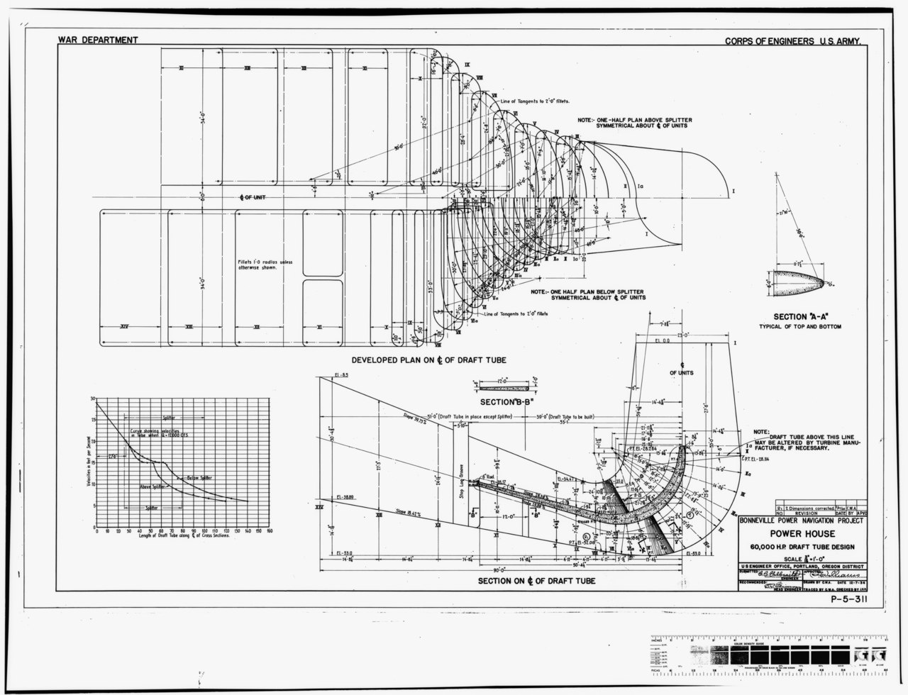 File Photocopy Of Original Construction Drawing Dated 7