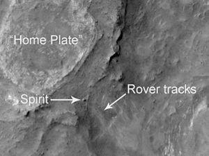 English: Crop of NASA Mars Reconnaissance Orbi...