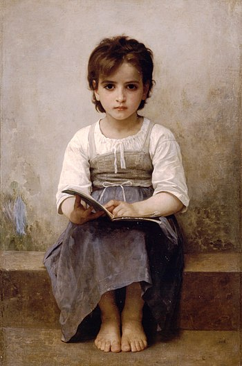 English: William-Adolphe Bouguereau's La leçon...