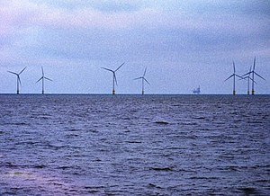 Windfarm at Caister. Taken on a cold December day