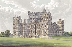 English: Wollaton Hall from Morris's Seats of ...