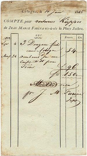 Farina Invoice 1815
