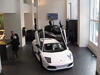 Lamborghini Gold Coast Showroom on Rush Street...