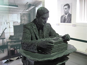 Turing in slate at Bletchley Park. People who ...