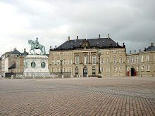 Princess Margrethe's birthplace: Frederik VIII's Palace at Amalienborg, photographed in 2006