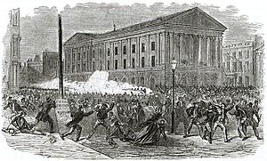 Astor Place Opera-House riots. Black and white...