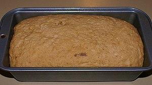 Bread in baking pan Polski: Chleb w foremce