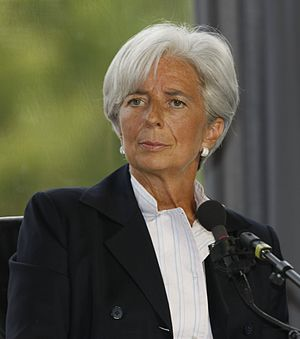 Français : Christine Lagarde à l'Université d'...