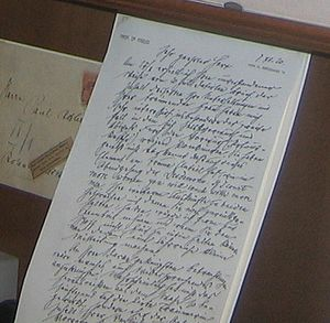 Handwriting of Freud