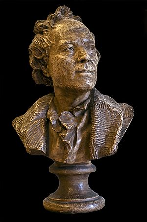 English: Terracotta bust of Gluck by Houdon. F...