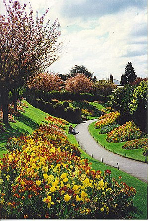 English: Guildford Castle Gardens. This is in ...