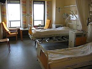 a hospital room (Denmark, 2005)