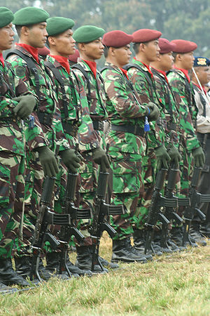 Soldiers of the Indonesian Army