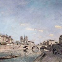 """The Seine and Notre-Dame in Paris"" by Johan Jongkind"