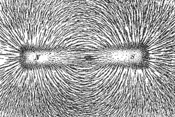 English: The magnetic field of a bar magnet re...